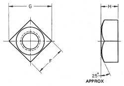 Square Nut Drawing