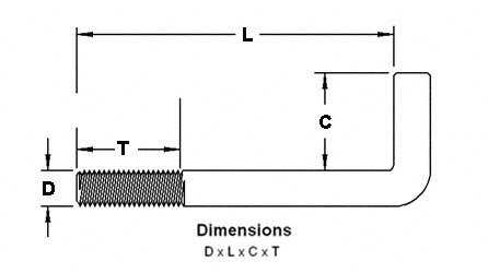 anchor bolt dimensions